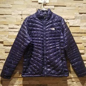 North Face Womens Large Purple Thermoball Jacket Lightweight Light Nano Puff